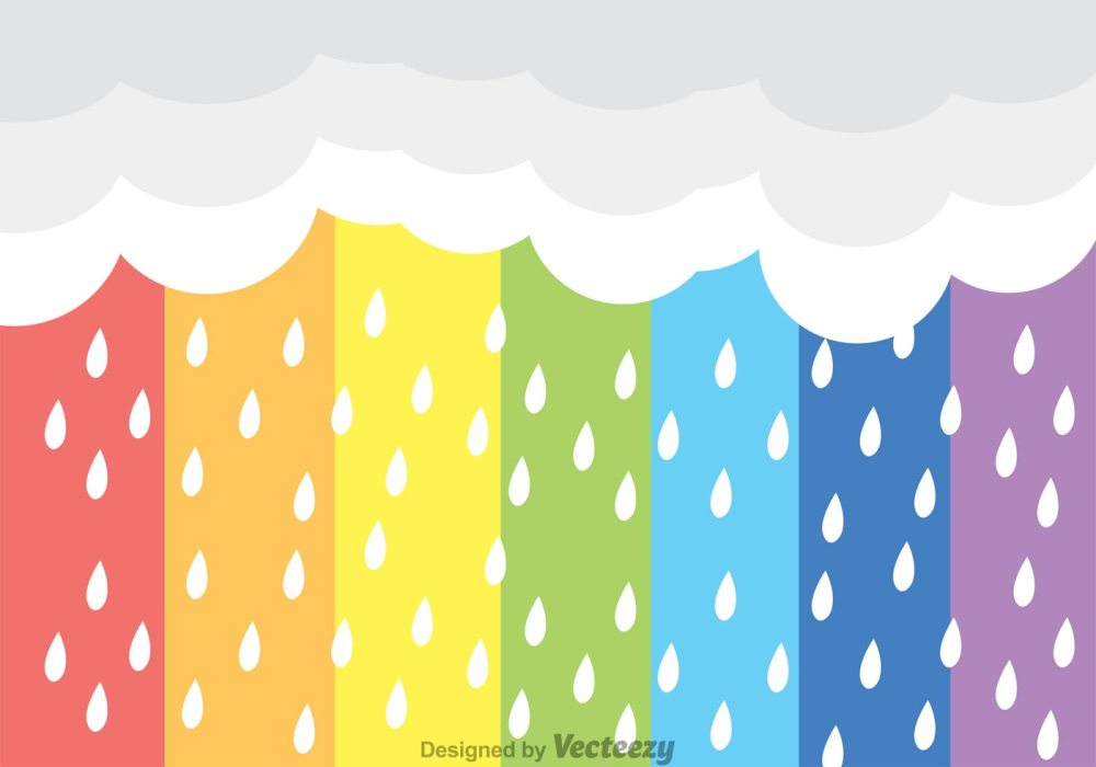 rainbow-rain-vector